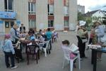 Центральная библиотека в городе Обнинске: летний читальный зал под открытым небом