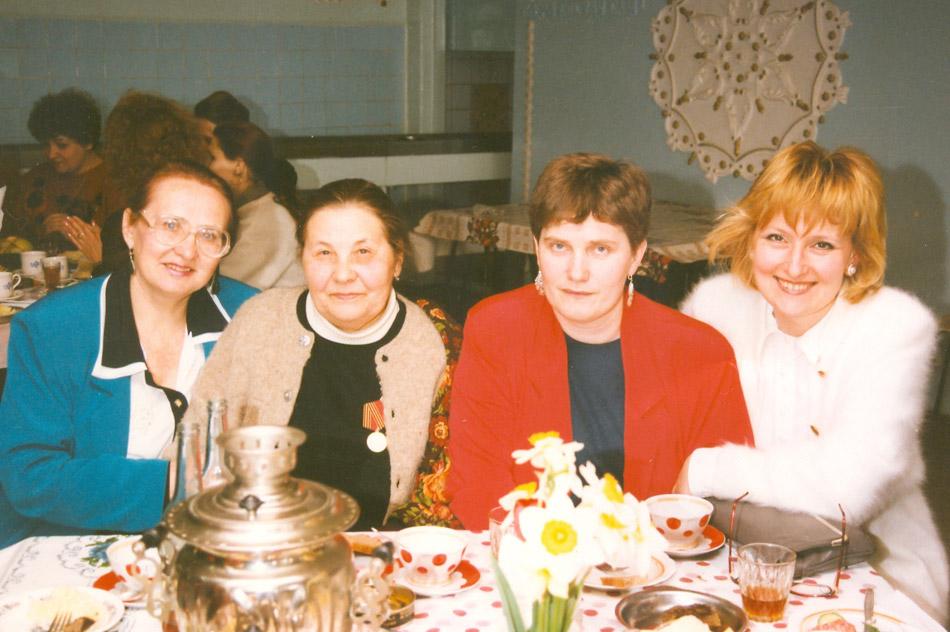Марина Ивановна Малявкина, Евдокия Дмитриевна Логвиновская, Марина Алексеевна Хоменко и Нина Юрьевна Коробейникова