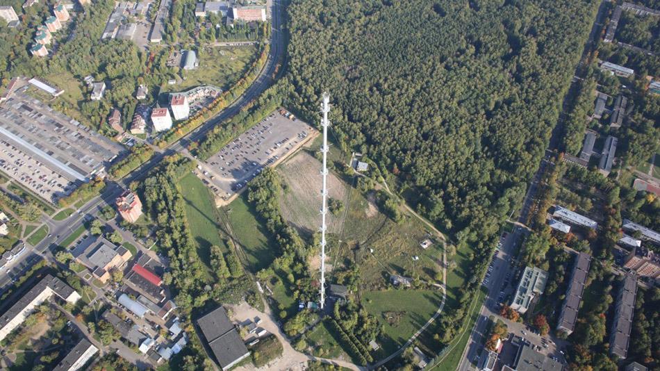 Метеорологическая мачта (ВММ-310, метеомачта, метеовышка) в городе Обнинске