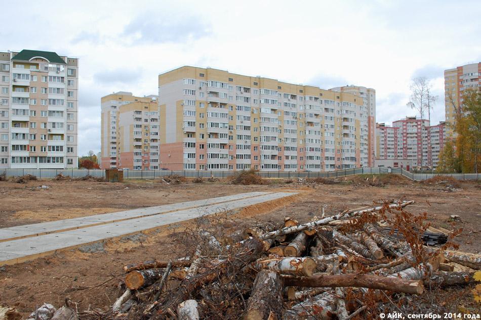 Строящийся детский сад посреди 38 микрорайона в городе Обнинске