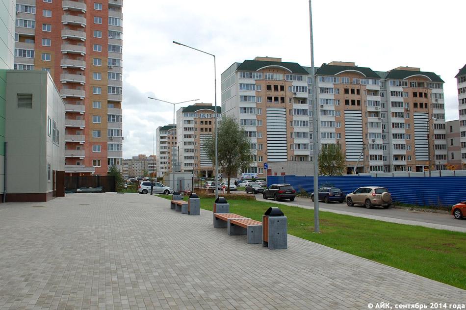 Вид на 38 микрорайон со стороны фермерского рынка «ЭкоБазар» в городе Обнинске