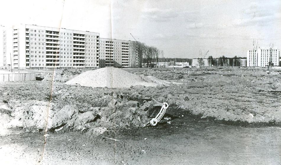 Пустырь на месте 45 микрорайона в городе Обнинске