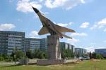 Самолёт «МиГ-29» в городе Обнинске (1 июля 2016 года)