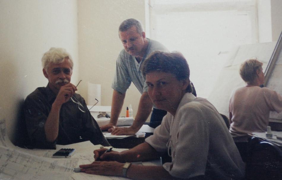 Группа архитекторов мастерской Михаила Михайловича Белоусова