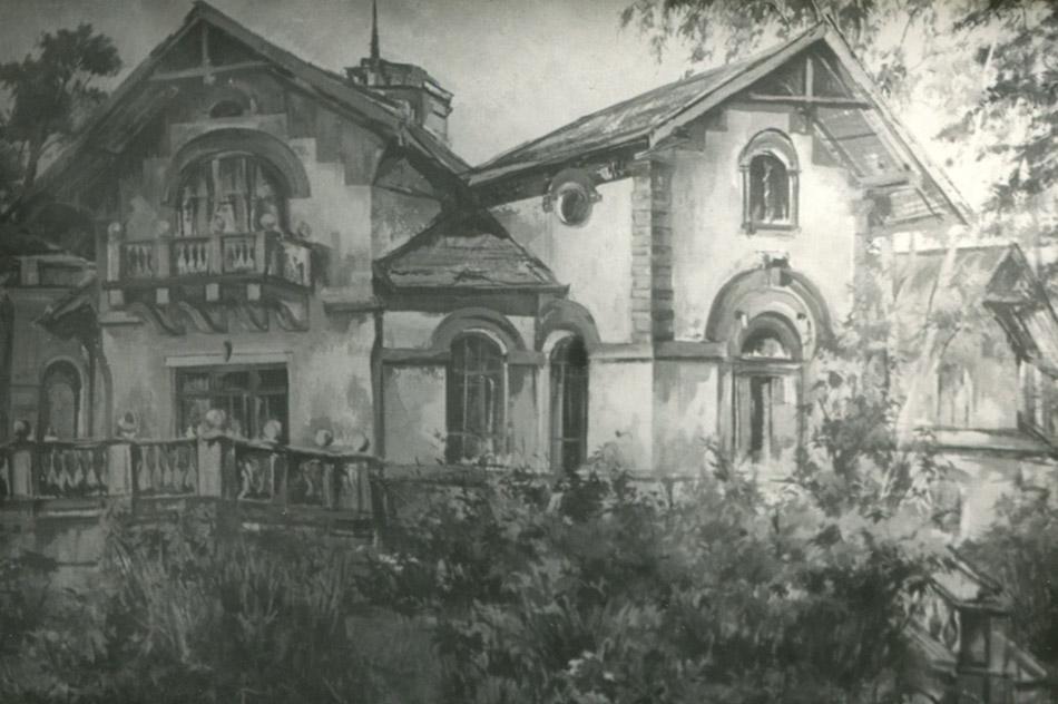 Морозовская дача в городе Обнинске (картина Рената Махмутова)