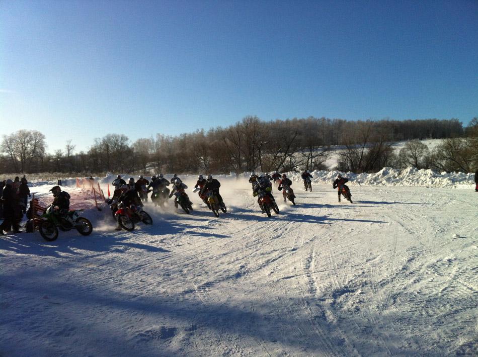 Традиция проведения в Обнинске зимнего мотокросса продолжается!