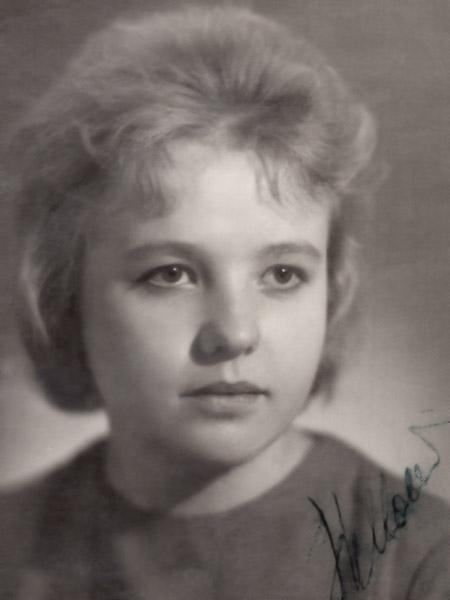 Надежда Михайловна Кушпита: 1964 год, во время учёбы в техникуме