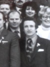 Владимир Александрович Наруков 22 декабря 1984 года на конференции ВЛКСМ в Калуге (вместе с Виктором Фёдоровичем Дроздовым)