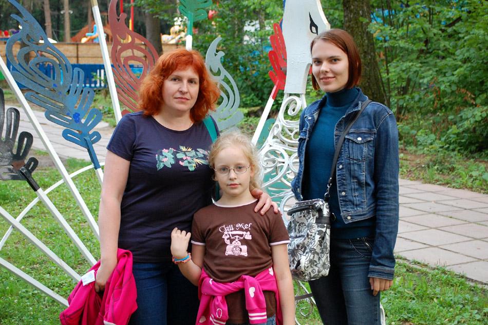 Наталья Петровна Кузьмичёва, Ксения Романовна Кузьмичёва и Алёна Георгиевна Борисенко (24 июля 2018 года)