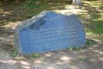 Мемориальный камень в честь Александра Фёдоровича Наумова в городе Обнинске