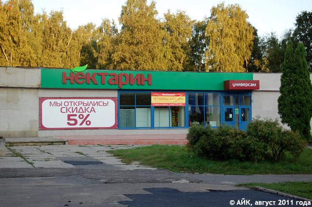 Универсам «Нектарин» в городе Обнинске вскоре после открытия