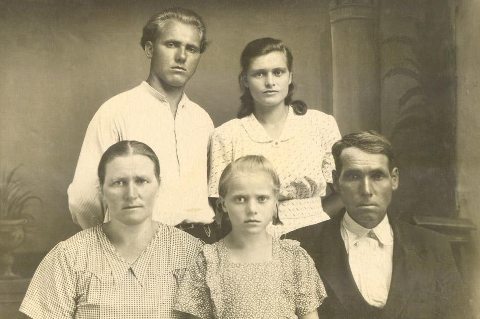 Семья Никоненко в 1953 году