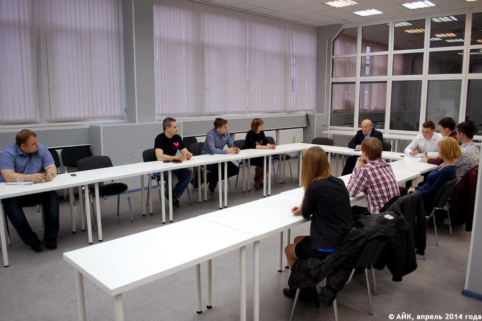 Встреча Анатолия Сотникова с активистами проекта «Обнинский бизнес-клуб» в конференц-зале АИРКО