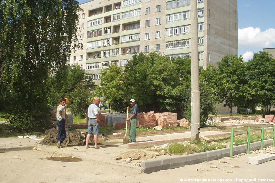 Работы по благоустройству Окриджского бульвара в городе Обнинске