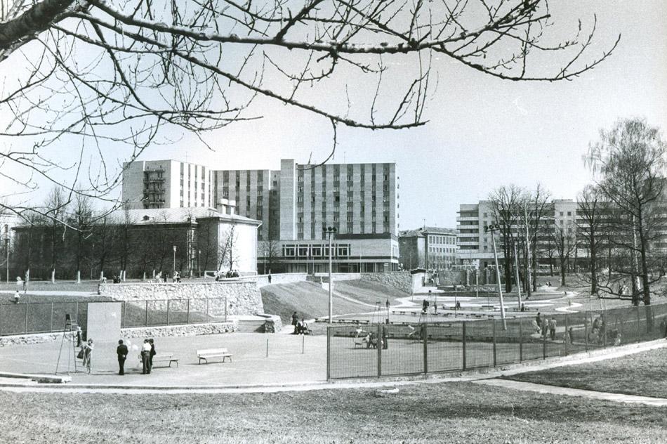 Овраг ИАТЭ в городе Обнинске в советское время