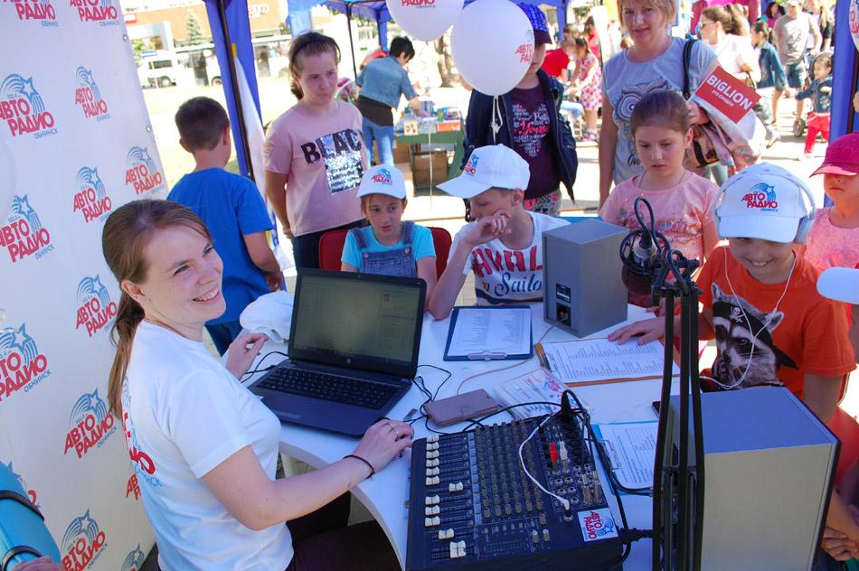 Шатёр станции «Авторадио» на городском детском празднике «Парад профессий 2018» в городе Обнинске