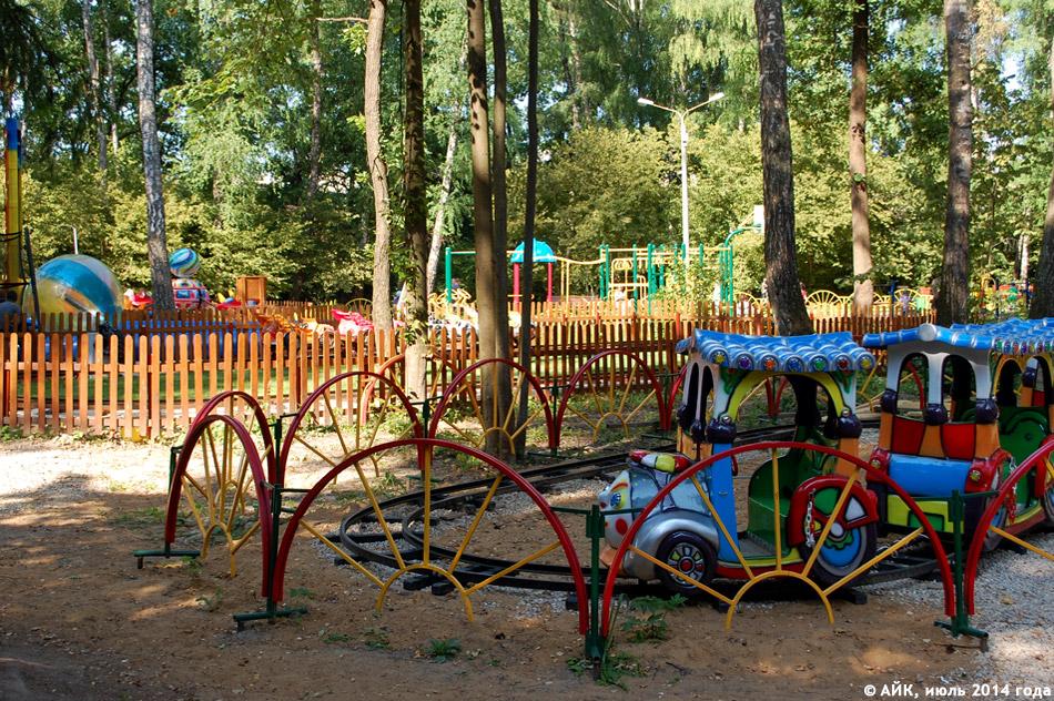 Новые аттракционы в парке в городе Обнинске