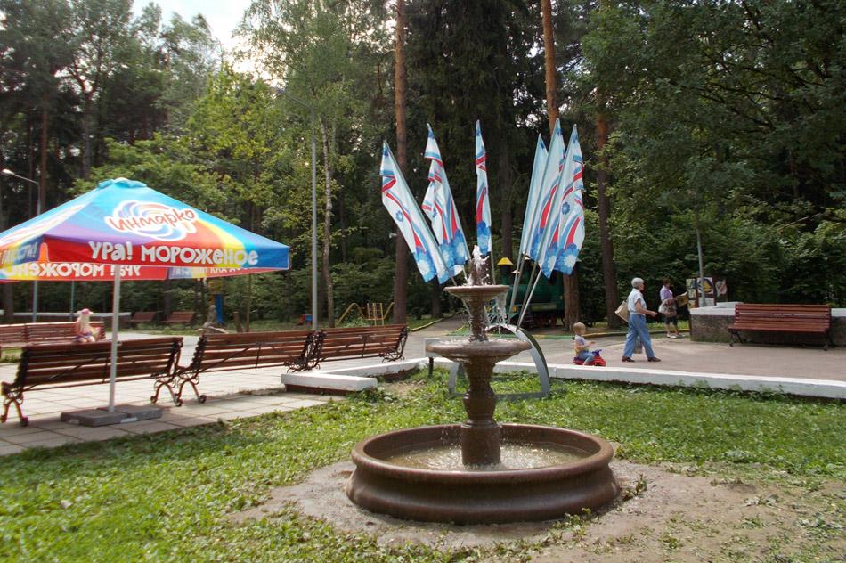 В парке появилась площадка для воркаута, фонтан и высотный город