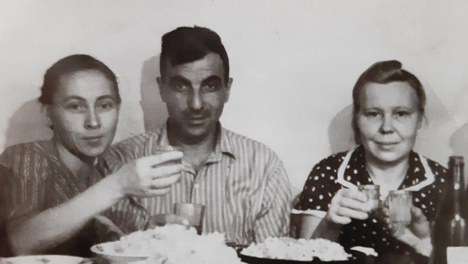 Пелагея Яковлевна Блинкова, Георгий Иванович Майнас и Анна Елизаровна Липодатова