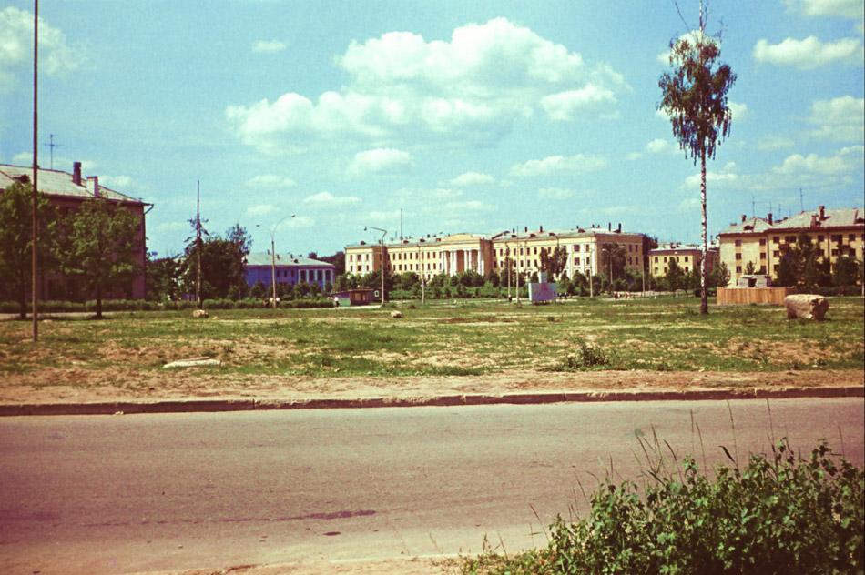Треугольная площадь в 1971 году в городе Обнинске