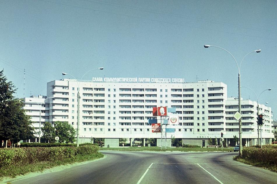 Треугольная площадь в городе Обнинске в советское время