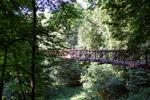 Подвесной мост через Репинку в старой части Обнинска