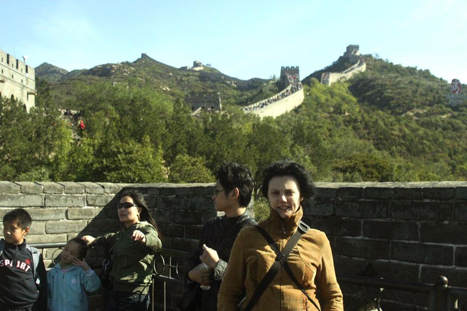 Полина Дмитриевна Синицкая на Великой Китайской стене (Бадалин)