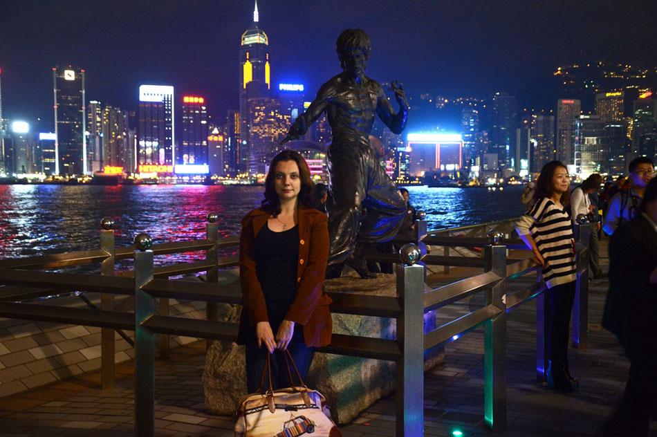Полина Дмитриевна Синицкая на аллее звёзд в Гонконге