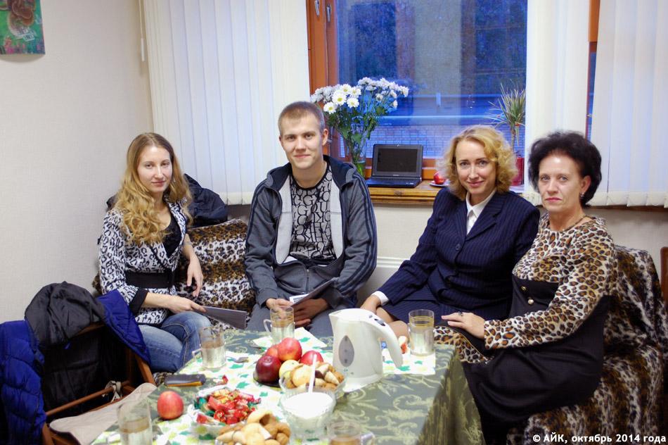 Одна из первых встреч в центре «Ресурсы» в городе Обнинске