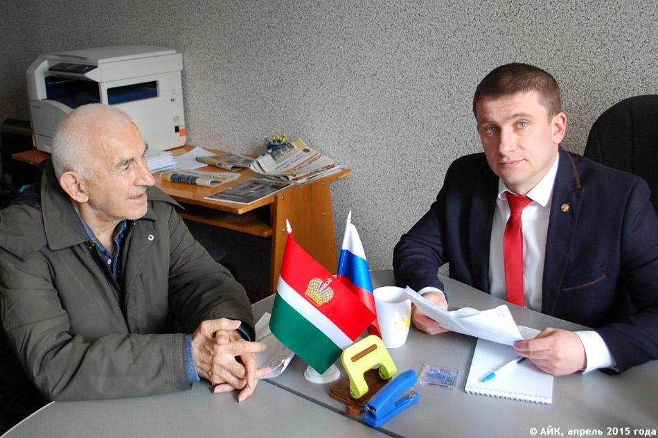 Пётр Дмитриевич Шамрицкий ведёт приём в обнинском офисе ЛДПР