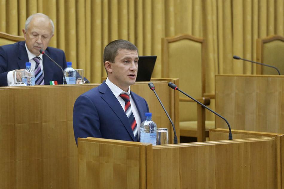 Выступление Петра Дмитриевича Шамрицкого на трибуне Законодательного Собрания Калужской области