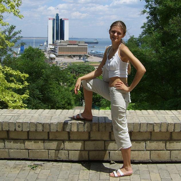 Татьяна Константиновна Филимонова в Одессе (окрестности порта)
