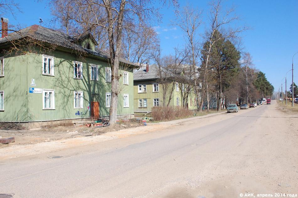 Улица Комсомольская в городе Обнинске