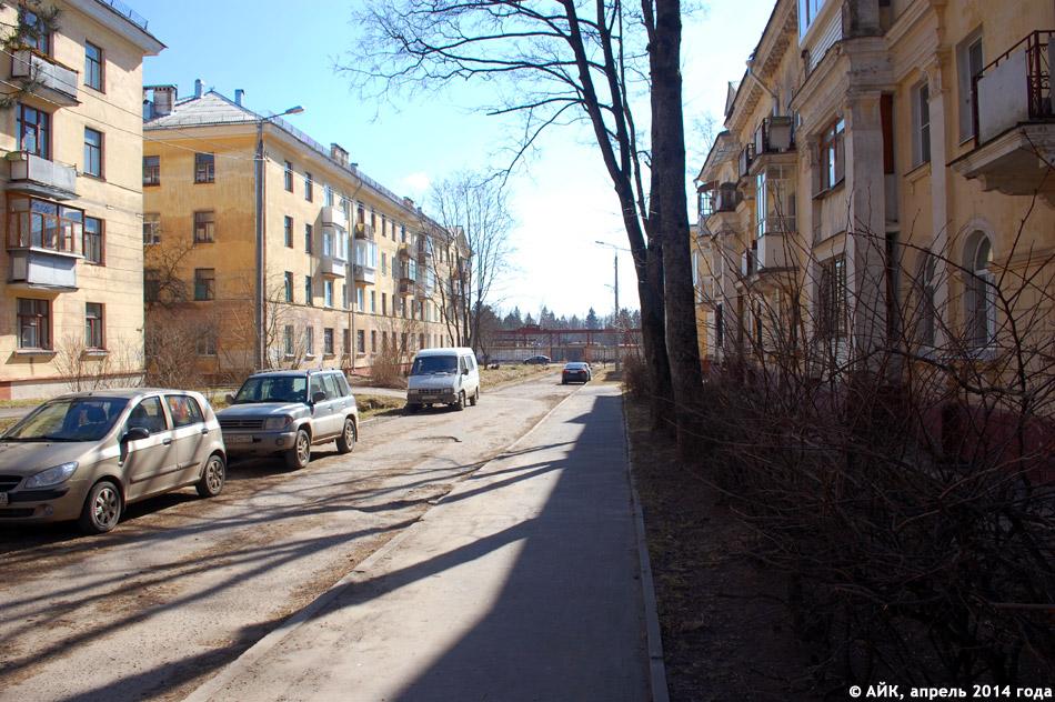 Улица Пушкина в городе Обнинске