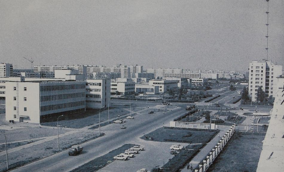 Улица Цветкова в городе Обнинске (1983 год)