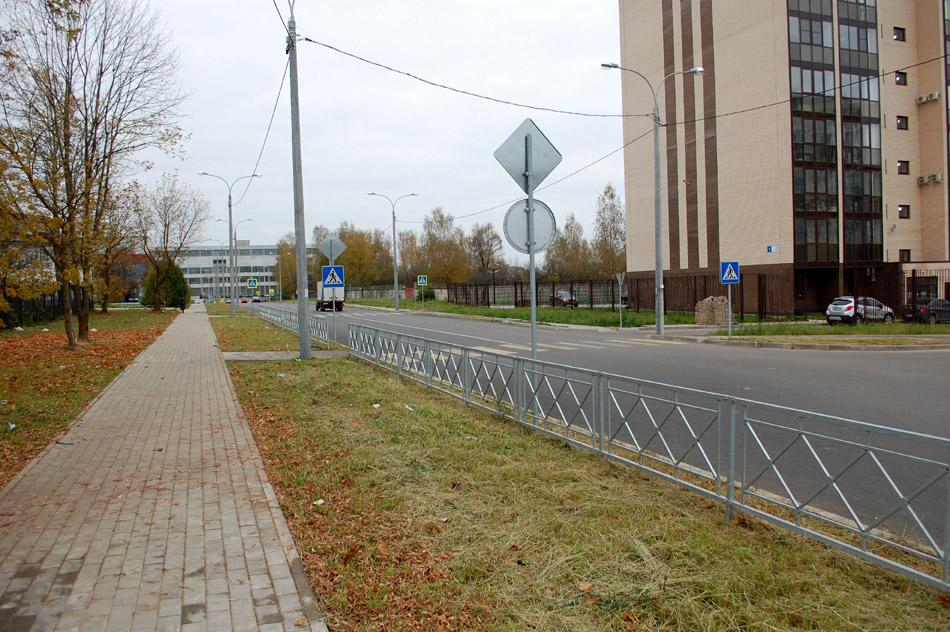 Улица Усачёва в городе Обнинске