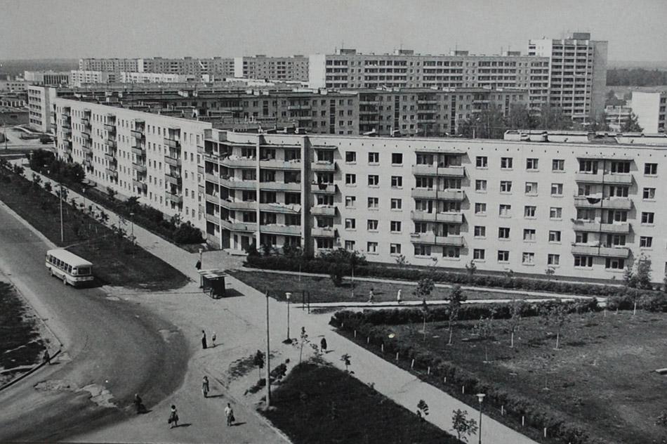 Улица Звёздная в городе Обнинске в советское время