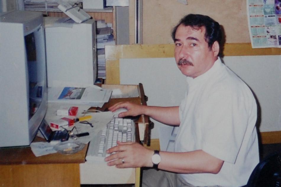 Ваник Ишханович Давтян на рабочем месте