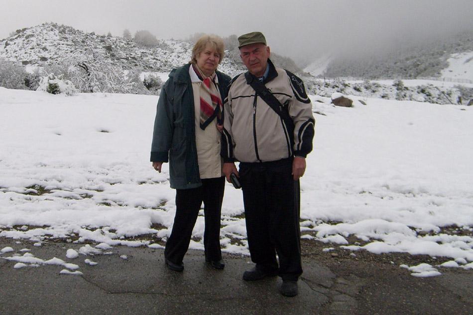 Владимир Борисович Серебренников с женой в Приэльбрусье