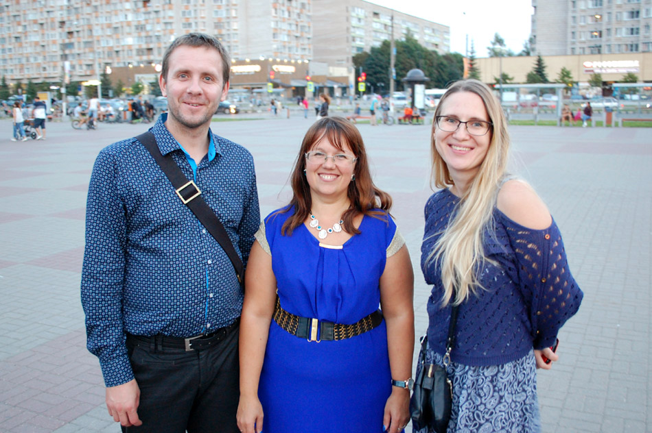 Владимир Геннадьевич Юдин, Валентина Андреевна Царёва и Евгения Юрьевна Симонова (2 сентября 2018 года)