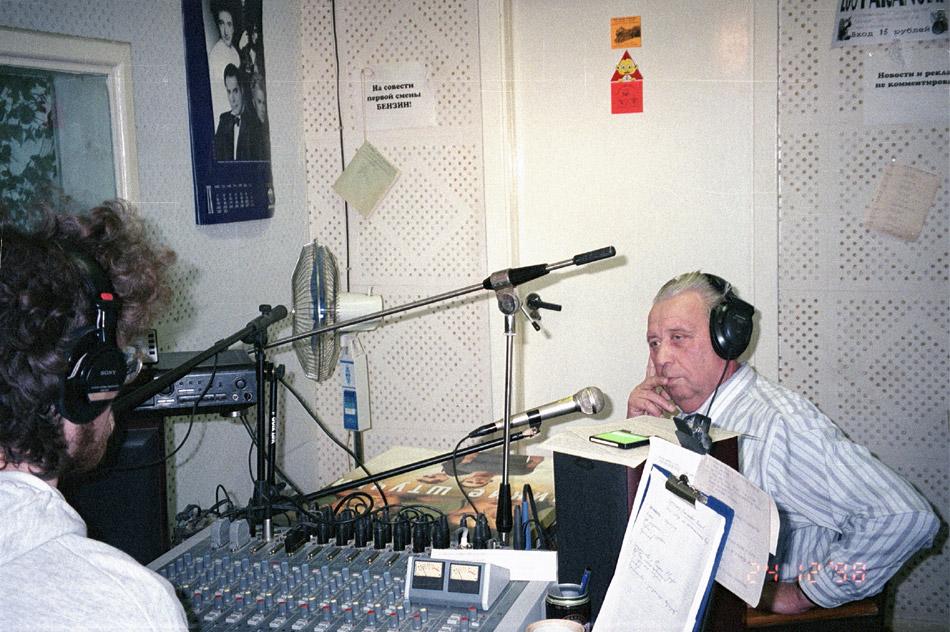 Владимир Николаевич Силаев в студии FM-станции «Радио Рейтинг»