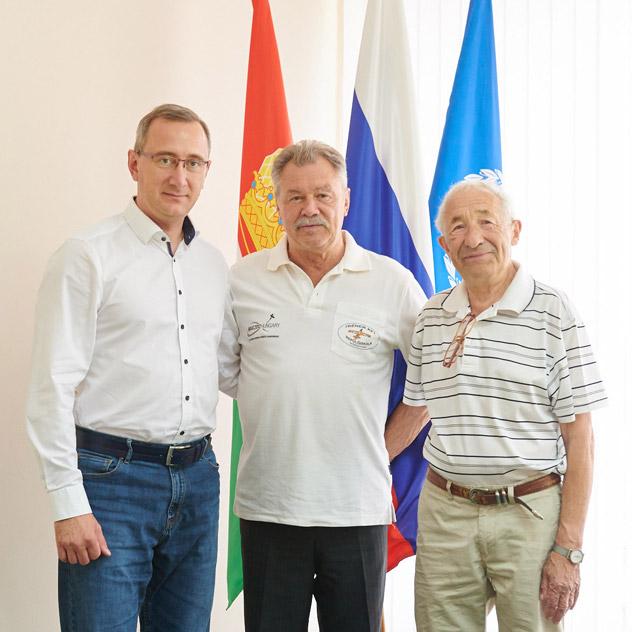Владислав Валерьевич Шапша, Берталан Фаркаш и Александр Львович Березнер (30 августа 2018 года)